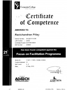Focus on facilitation 07 May 2010 NQF level 3 - 5