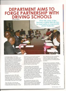 2013.08.2013 Formation of Gauteng Forum for Driving Schools